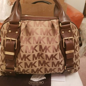 Michael Kors Collection Satchel in Brown and Tan with Gold Hardwear. NO RETURNS