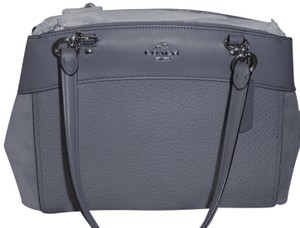 Coach Silver Hardware Zip Magnetic F31418 Mixed Shoulder Bag