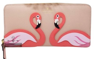 Kate Spade NWT kate spade New York flamingo bird by the pool multicolor wallet