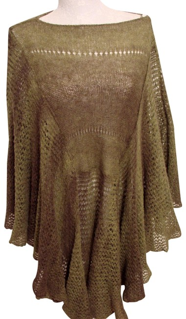 Preload https://img-static.tradesy.com/item/24530513/free-people-moss-green-full-mohair-blend-ombre-ponchocape-size-os-one-size-0-3-650-650.jpg