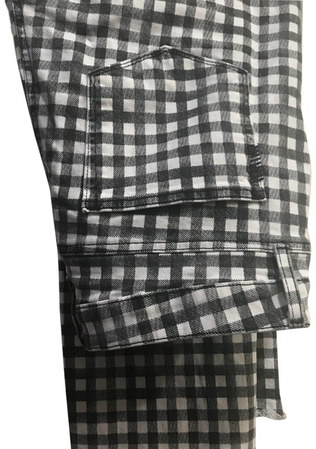 Item - Black & White Check Coated Hoxton Ankle Straight Leg Jeans Size 12 (L, 32, 33)