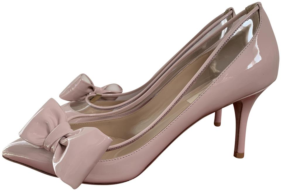 16ee0a9660545 Valentino Light Pink Dollybow Patent Bow Pvc Pointed Pumps Size EU ...