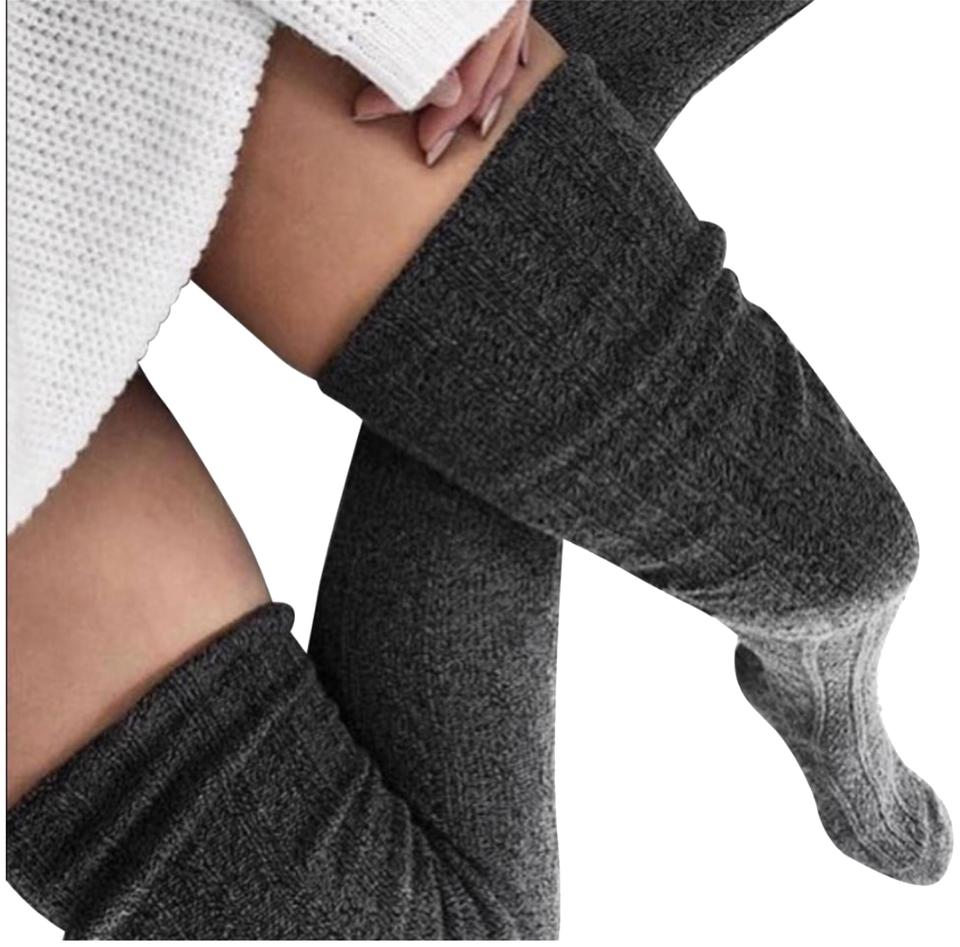 027355864 Anthropologie Message Us W Color Choice Lux Thigh High Socks - Tradesy