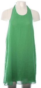 Alice + Olivia Alice + Olivia Halter Silk Midi Dress Green L