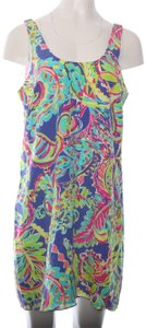 Lilly Pulitzer Lilly Pulitzer Pink Label Bright Floral Silk Mini Dress L