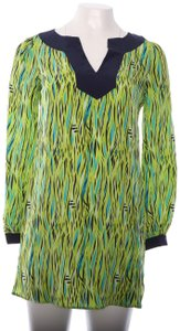 Lilly Pulitzer Lilly Pulitzer Long Sleeve Fish Green Mini Dress Silk 0