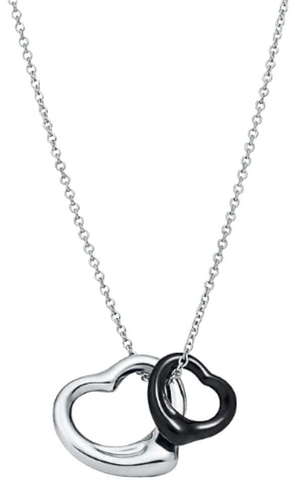 7a49584120ca2 Tiffany & Co. Back Jade/Silver Open Heart Pendant Necklace 23% off retail