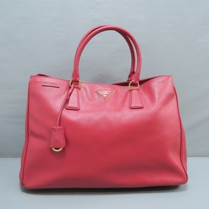 Prada Medium Calfskin Tote in red