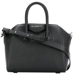 Givenchy Leather Silver Hardware Crisscross Strap Cross Body Bag