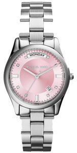 Michael Kors Michael Kors Colette MK6069 Silver Stainless Steel Pink Dial Womens Watch