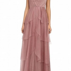 Donna Morgan Blush Rose Collection Tiered Gown Traditional Bridesmaid/Mob Dress Size 4 (S)