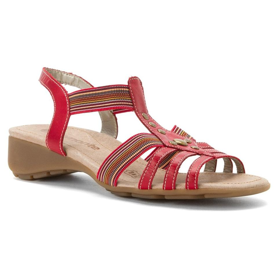 cf8ac50ab0745 Rieker Red/Multi Remonte Elea 04 Leather Ankle Strap Sandals Size US ...