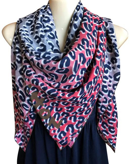 Item - Grey Orange Red Limited Edition Stephen Sprouse Leopard Shawl Silk New Rare Scarf/Wrap