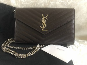 af5d2151f90ce Saint Laurent Wallet on Chains - Up to 70% off at Tradesy