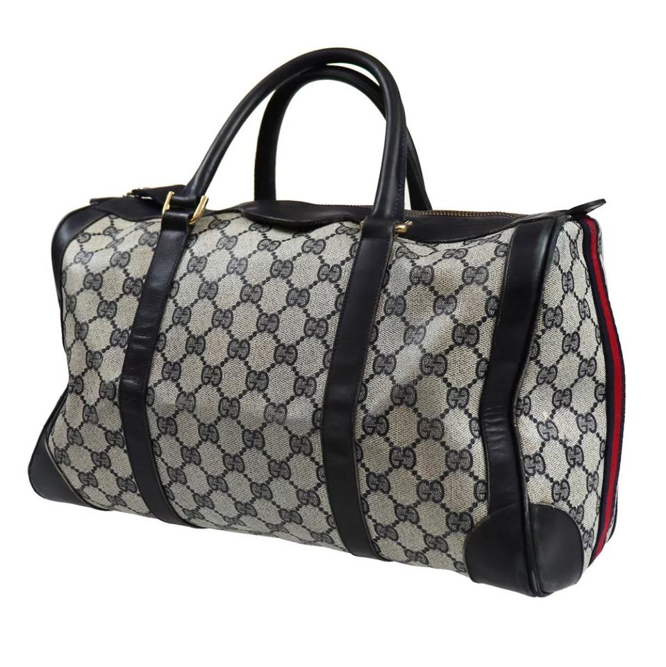 a91f7c057b7 Gucci Boston Vintage Canvas Navy Weekend Travel Bag - Tradesy