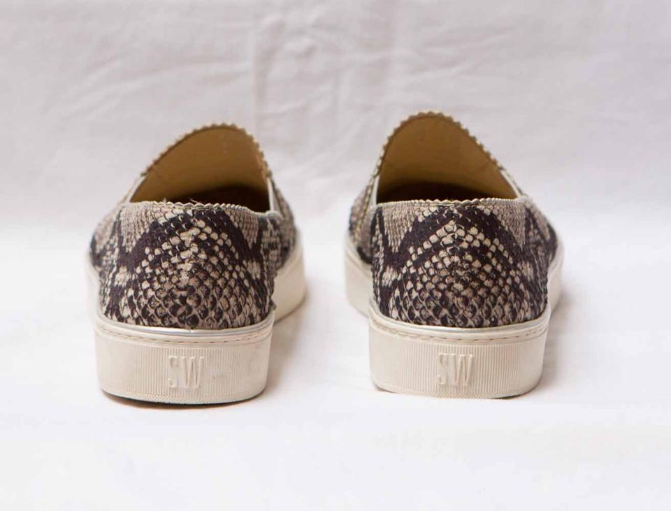 d688be2efa00 Stuart Weitzman Natural Nuggets Snake-print Slip-on Sneakers Size US ...