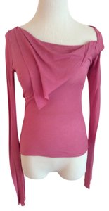 Sweetees Asymmetrical Neckline Top Pink