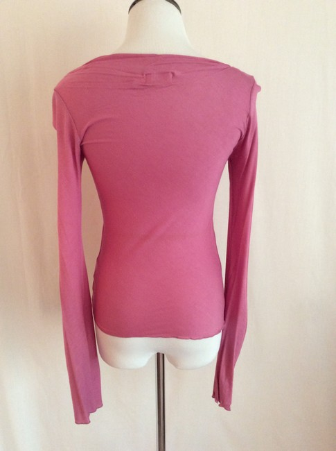 Sweetees Asymmetrical Neckline Top Pink Image 1