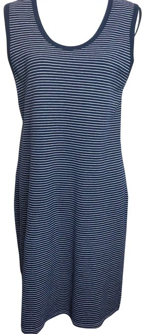 Item - Navy Blue White Striped Blue/White Tank Mid-length Casual Maxi Dress Size 10 (M)