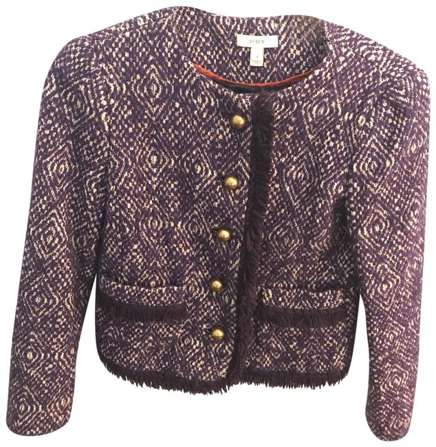 Item - Purple Corkscrew Tweed Lady Jacket Blazer Size 0 (XS)