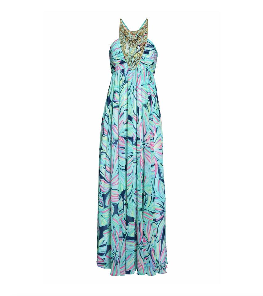 b5be4e0702183c Lilly Pulitzer Multicolor - Lannette Embellished Chiffon Long Formal ...