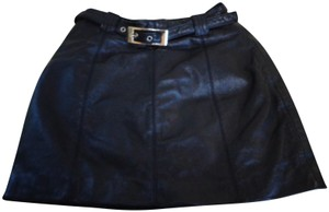 Maxima Leather Wilson's Leather Mini Skirt Black