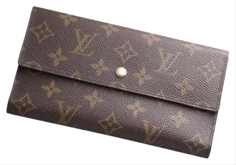 30335e461744 Louis Vuitton Brown Sarah Monogram Canvas Long Wallet - Tradesy