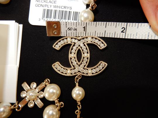 Chanel Chanel Classic Large CC Logo Crystals Pearl 46