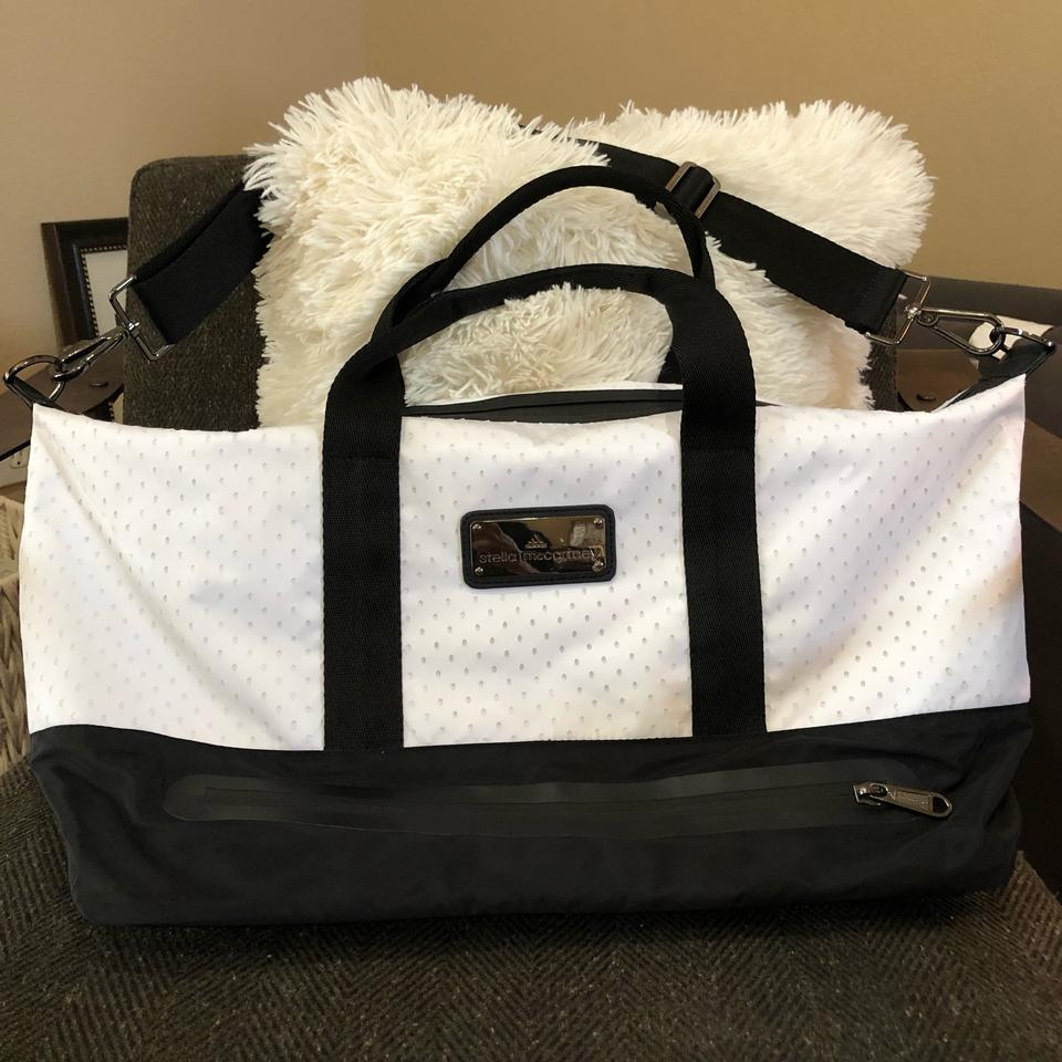 adidas By Stella McCartney Gym Black and White Polyester Nylon Weekend Travel  Bag - Tradesy b9346b71db139