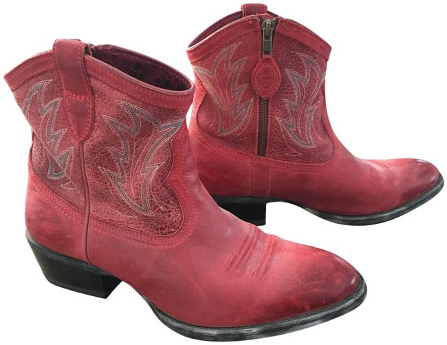 Item - Red Cowboy Boots/Booties Size US 9 Regular (M, B)