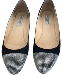 Jimmy Choo Navy Blue Flats