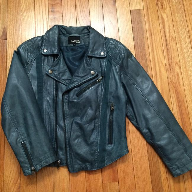 Teal Green Leather Cropped Jacket Blazer Size 8 (M) Teal Green Leather Cropped Jacket Blazer Size 8 (M) Image 7