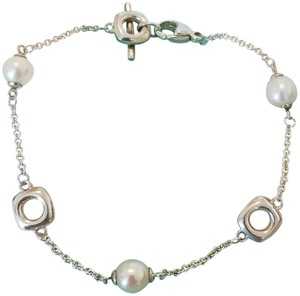 Tiffany & Co. Retired pearls and silver squares bracelet