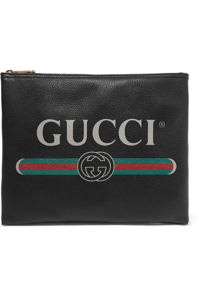 0a7fffc12dc Gucci Printed Pouch Leather Clutch - Tradesy