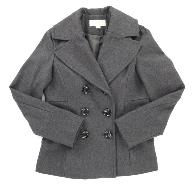 Item - Grey Wool Blend Double Breasted. Fully Lined Coat Size 6 (S)