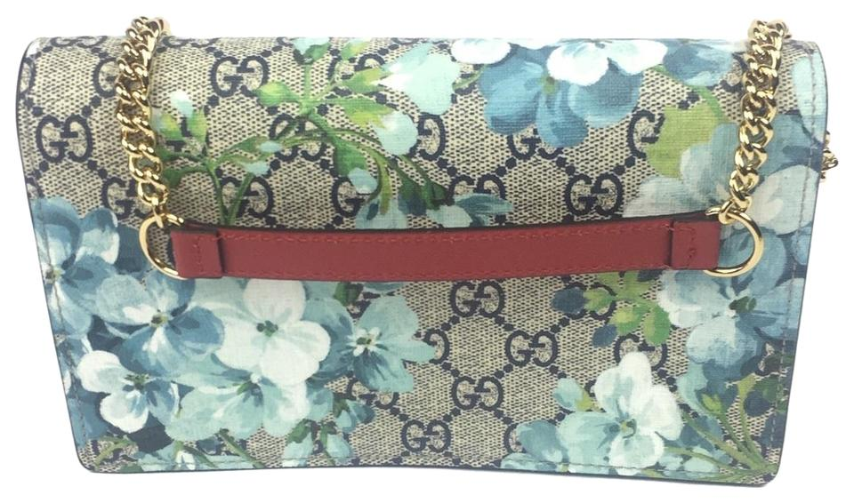 d356fd281 Gucci Clutch #546368 Blooms Chain Bag/Clutch Multi-color Gg Supreme Coated  Canvas Shoulder Bag