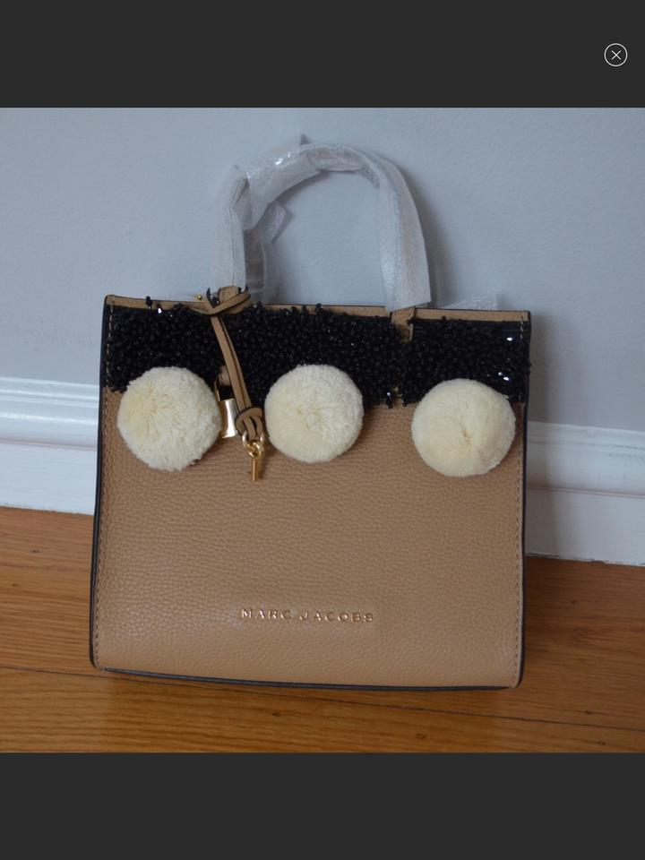 1495a6e89c Marc Jacobs Beads and Pom Poms Mini Grind Natural Leather Cross Body ...