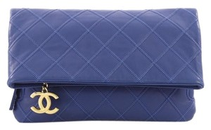 4b877383271e Added to Shopping Bag. Chanel Leather blue Clutch. Chanel Clutch Thin City  Quilted Calfskin Small ...