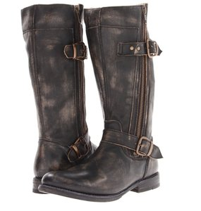 Bed|Stü Double Zipper Black Hand Wash Boots