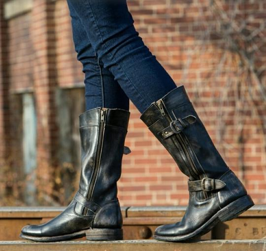 Bed Stü Double Zipper Black Hand Wash Boots Image 1