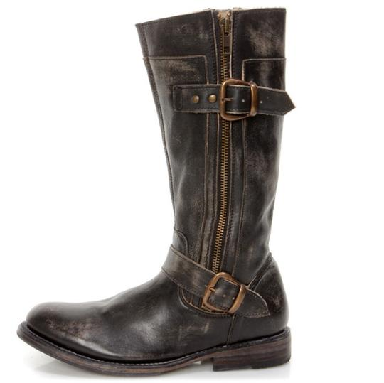 Bed Stü Double Zipper Black Hand Wash Boots Image 2