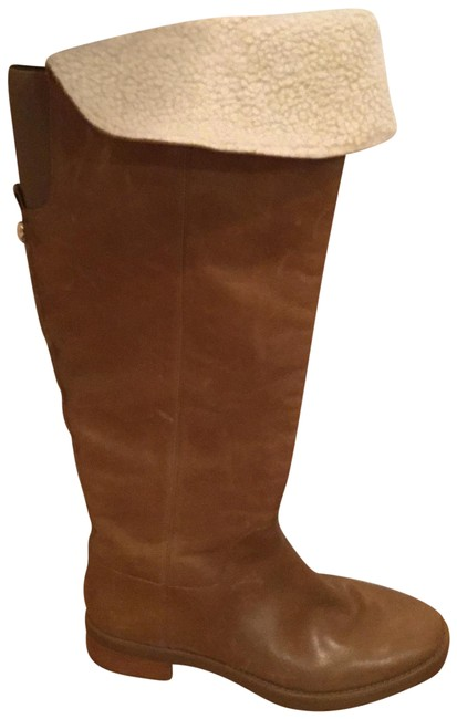 Item - Tan Lug Sole Tall with Sterling Trim. Boots/Booties Size US 11 Regular (M, B)
