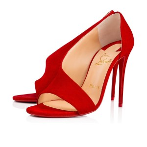 Christian Louboutin Pigalle Stiletto Ankle Strap Patent Phoebe red Pumps