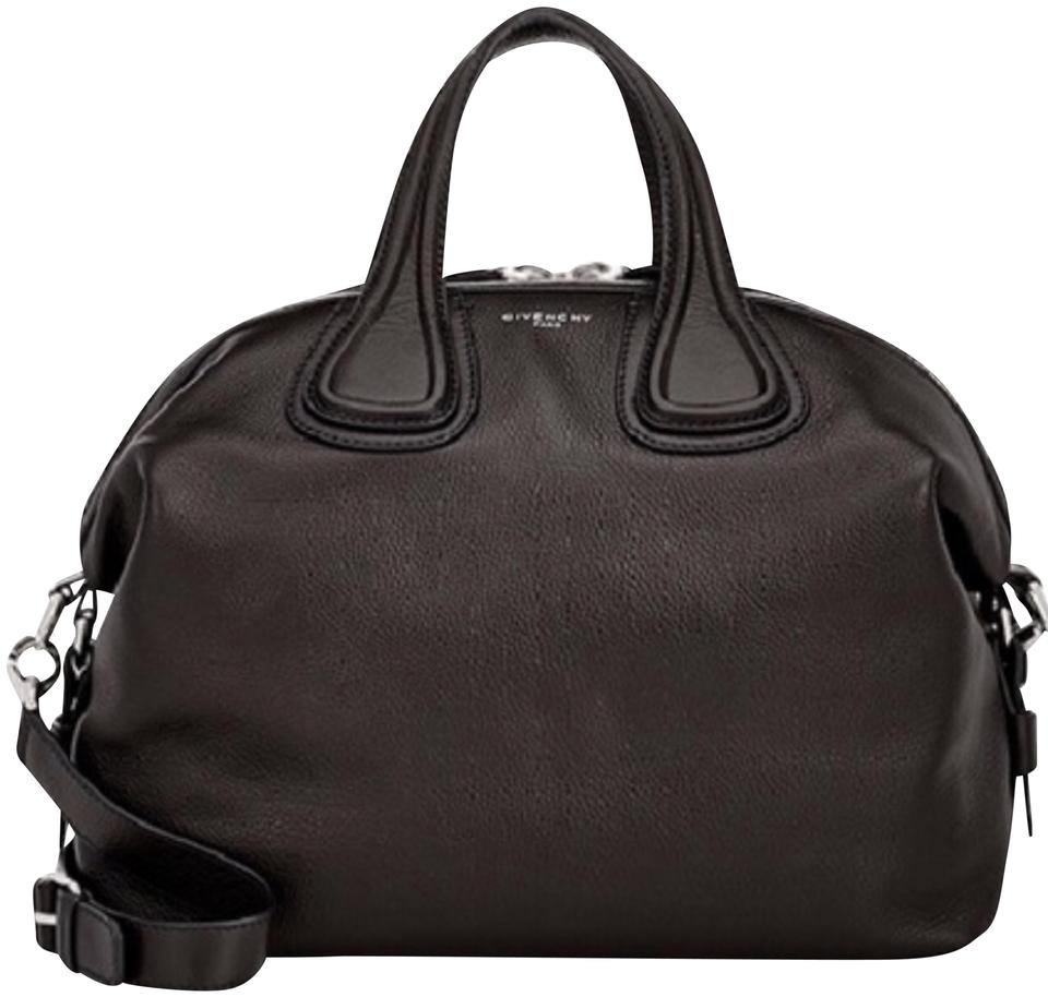 4670eac0c5 Givenchy Nightingale Medium Black Leather Satchel - Tradesy