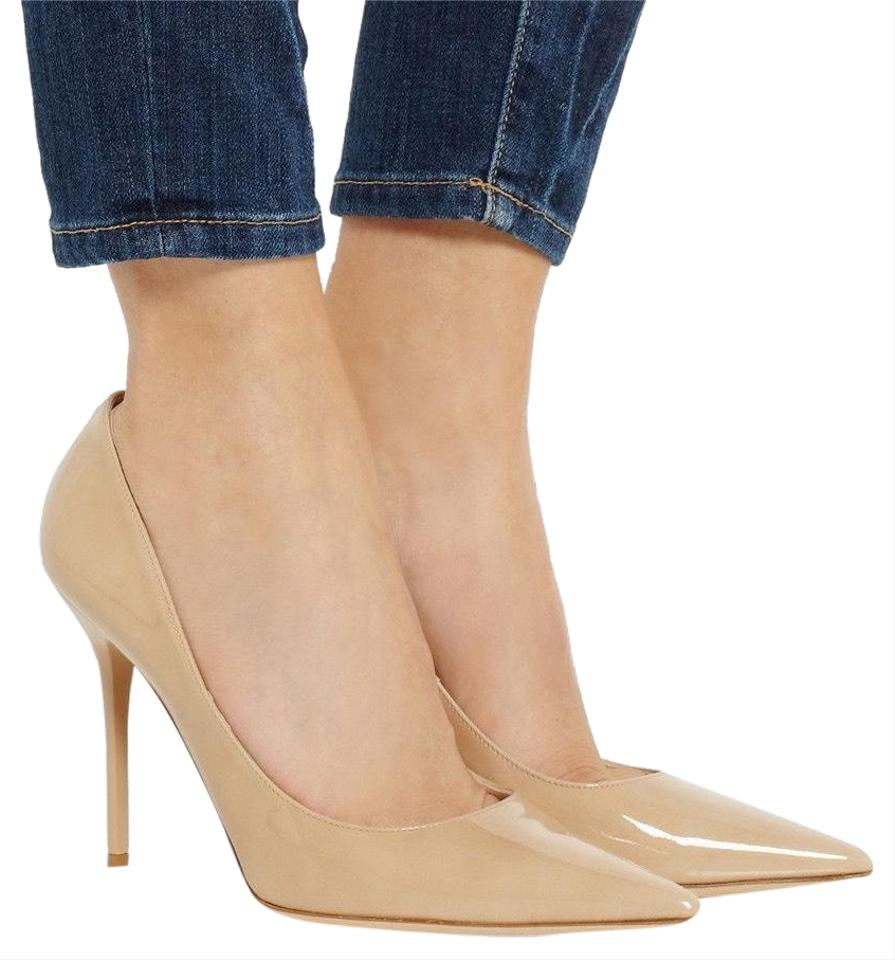 7315d5eb23d Jimmy Choo Nude Patent Abel Pointed Pumps Size EU 34 (Approx. US 4 ...