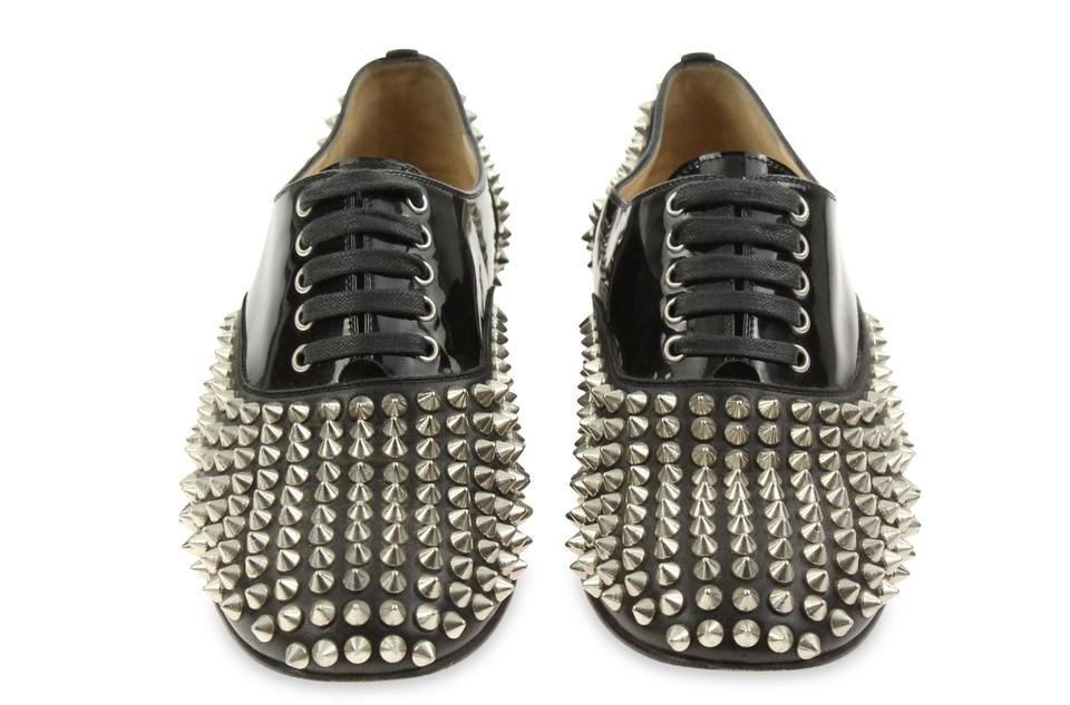 88311ec78bf5 Christian Louboutin Black Freddy Spikes Donna Flats Size EU 36.5 (Approx.  US 6.5) Regular (M