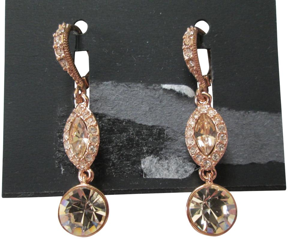 c1d517364 Givenchy Givenchy Rose Pink Swarovski Crystal Marquis Drop Dangle Earrings  Image 0 ...