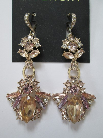 Givenchy Champagne Swarovski Crystal Drop Dangle Statement Earrings