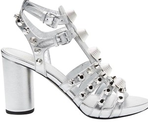 999a0be149a Balenciaga Silver Giant Stud Chunky Sandals Size EU 37 (Approx. US 7 ...