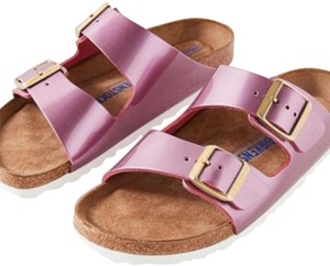 Birkenstock spectacular leather rose Sandals